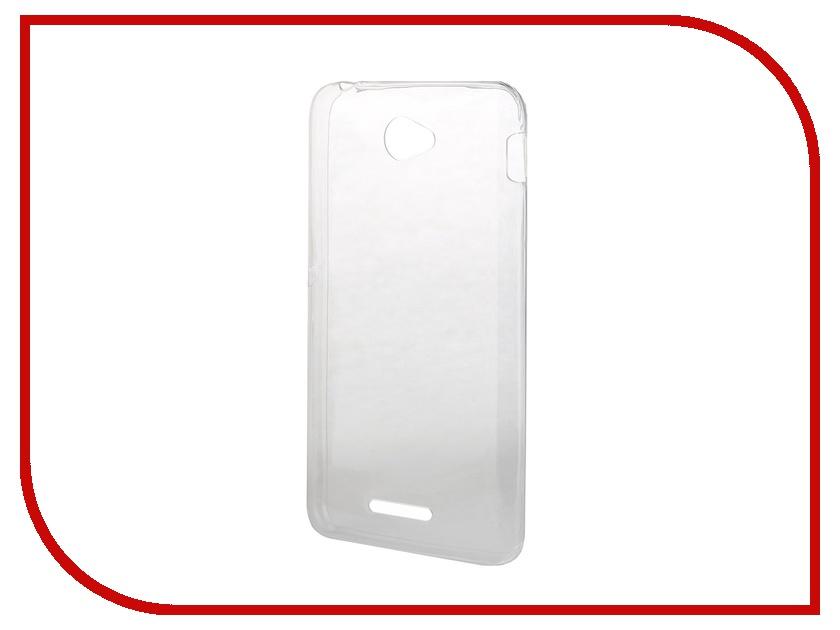 Аксессуар Чехол-накладка Sony Xperia E4 BROSCO силиконовый Transparent E4-BACK-01-TRANSPARENT<br>