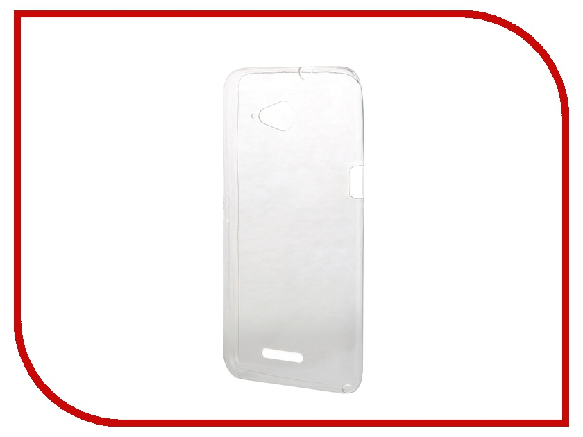 Аксессуар Чехол-накладка Sony Xperia E4G BROSCO силиконовый Transparent E4G-BACK-01-TRANSPARENT<br>