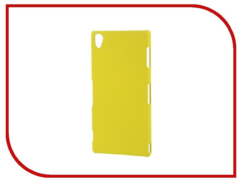 Аксессуар Чехол-накладка Sony Xperia Z3 BROSCO пластиковый Yellow Z3-BACK-03-YELLOW<br>
