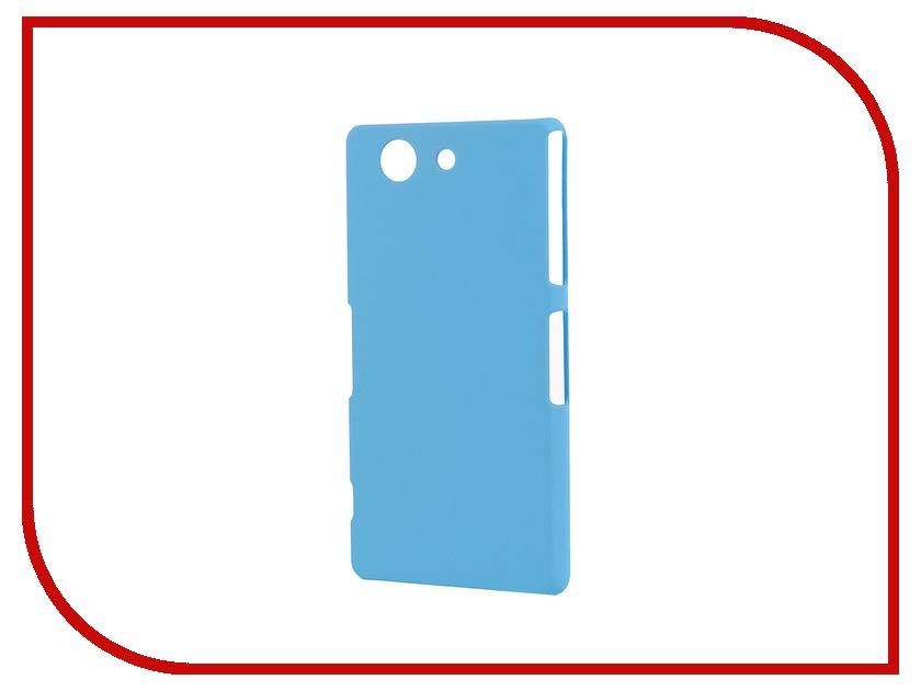 Аксессуар Чехол-накладка Sony Xperia Z3 Compact BROSCO пластиковый Blue Z3C-BACK-03-BLUE