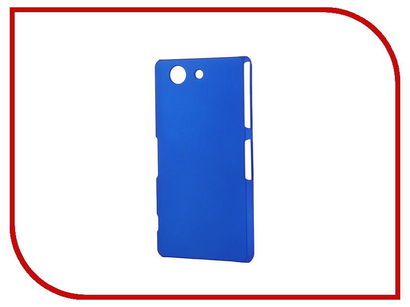 Аксессуар Чехол-накладка Sony Xperia Z3 Compact BROSCO пластиковый Dark Blue Z3C-BACK-03-DARKBLUE<br>