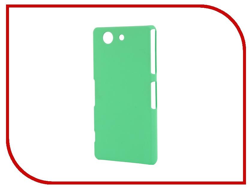 Аксессуар Чехол-накладка Sony Xperia Z3 Compact BROSCO пластиковый Green Z3C-BACK-03-GREEN<br>