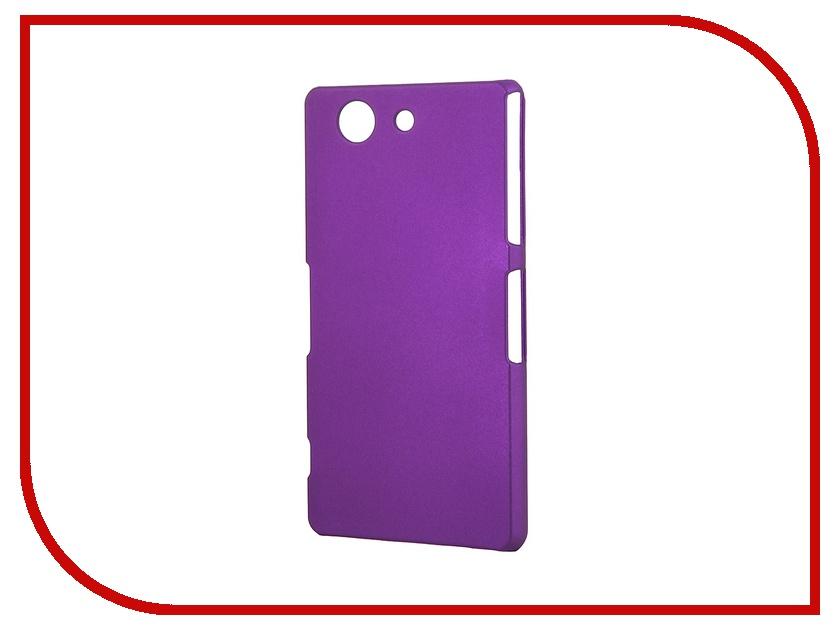 Аксессуар Чехол-накладка Sony Xperia Z3 Compact BROSCO пластиковый Purple Z3C-BACK-03-PURPLE