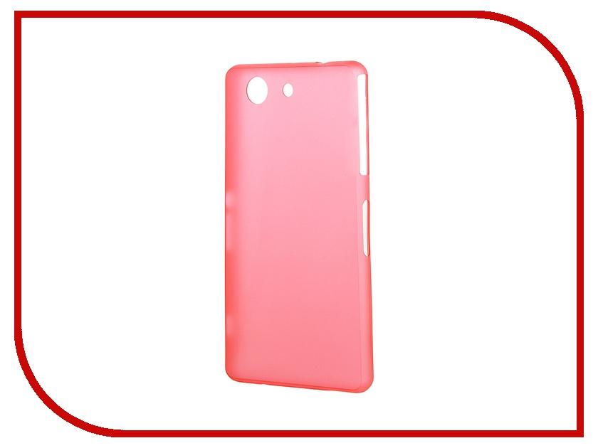 Аксессуар Чехол-накладка Sony Xperia Z3 Compact BROSCO Super Slim пластиковый Red Z3C-BACK-04-RED<br>