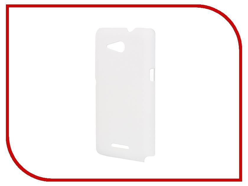 Аксессуар Чехол-накладка Sony Xperia E4G BROSCO пластиковый White E4G-BACK-01-WHITE<br>