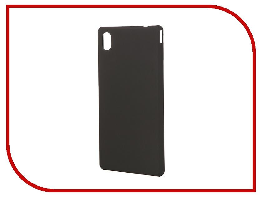 Аксессуар Чехол-накладка Sony Xperia M4 Aqua BROSCO пластиковый Black M4A-BACK-02-BLACK<br>