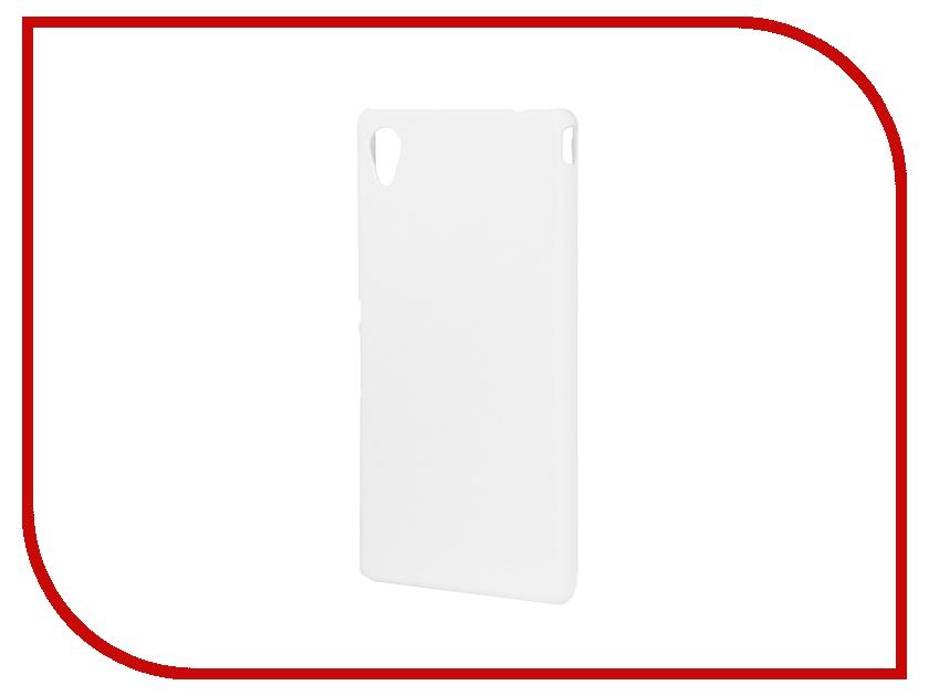 Аксессуар Чехол-накладка Sony Xperia M4 Aqua BROSCO пластиковый White M4A-BACK-02-WHITE<br>