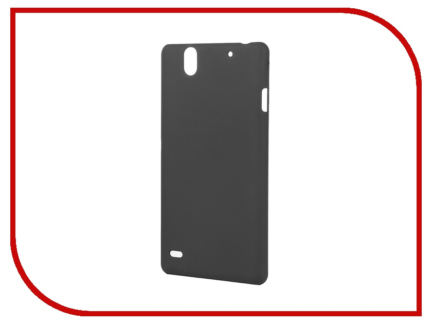 Аксессуар Чехол-накладка Sony Xperia C4 BROSCO пластиковый Black C4-SOFTTOUCH-BLACK<br>