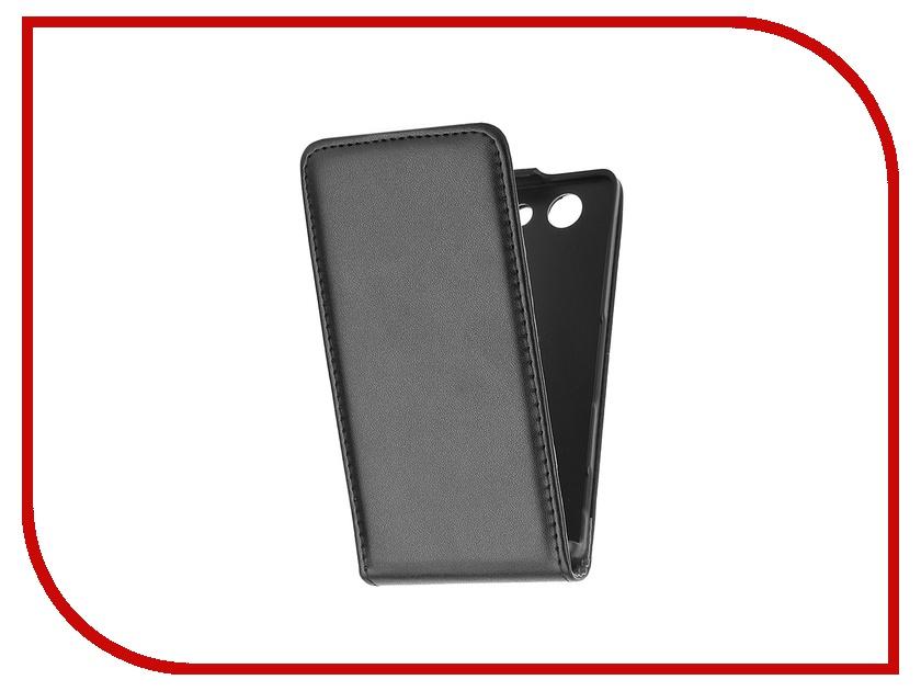Аксессуар Чехол-флип Sony Xperia Z3 Compact BROSCO Black Z3C-FLIP-01-BLACK<br>