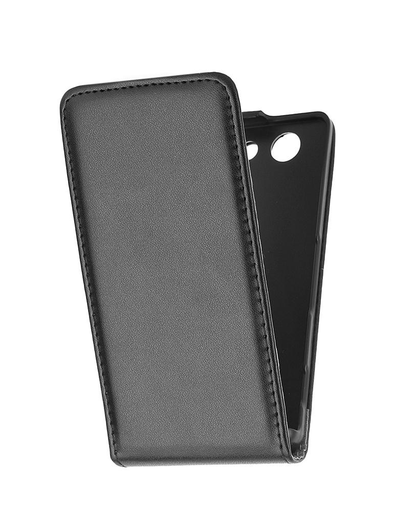 Аксессуар Чехол-флип Sony Xperia Z3 Compact BROSCO Black Z3C-FLIP-01-BLACK