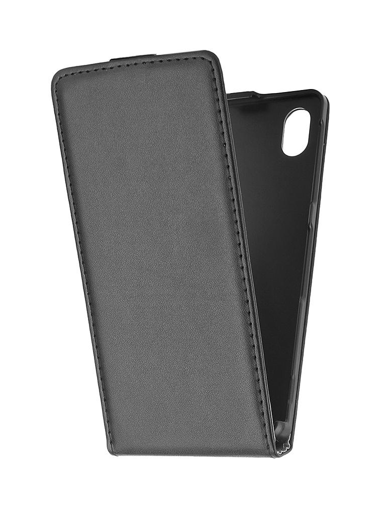 Аксессуар Чехол-флип Sony Xperia M4 Aqua BROSCO Black M4A-FLIP-01-BLACK