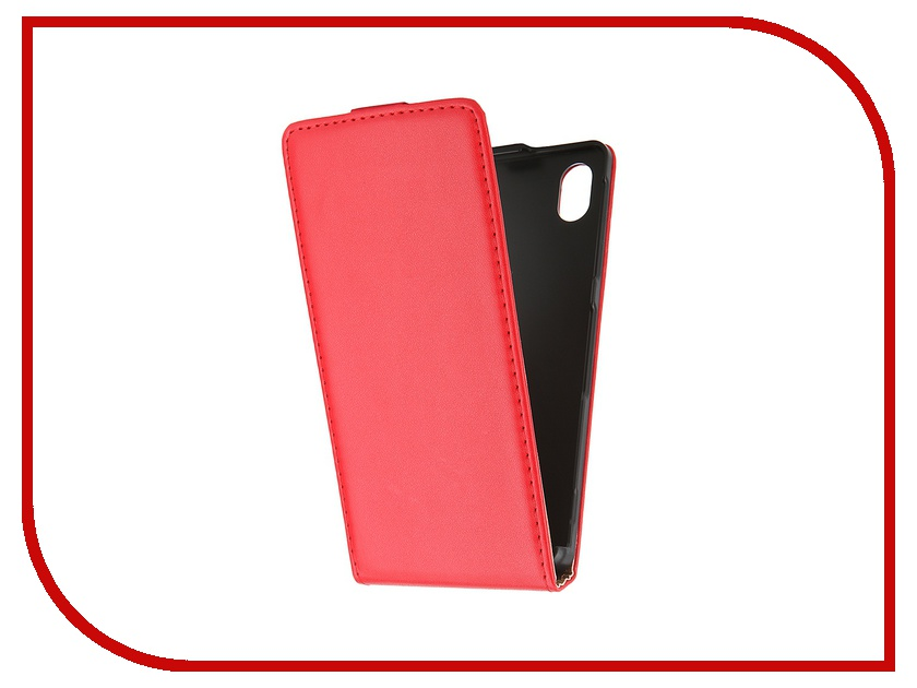 Аксессуар Чехол-флип Sony Xperia M4 Aqua BROSCO Red M4A-FLIP-01-RED<br>
