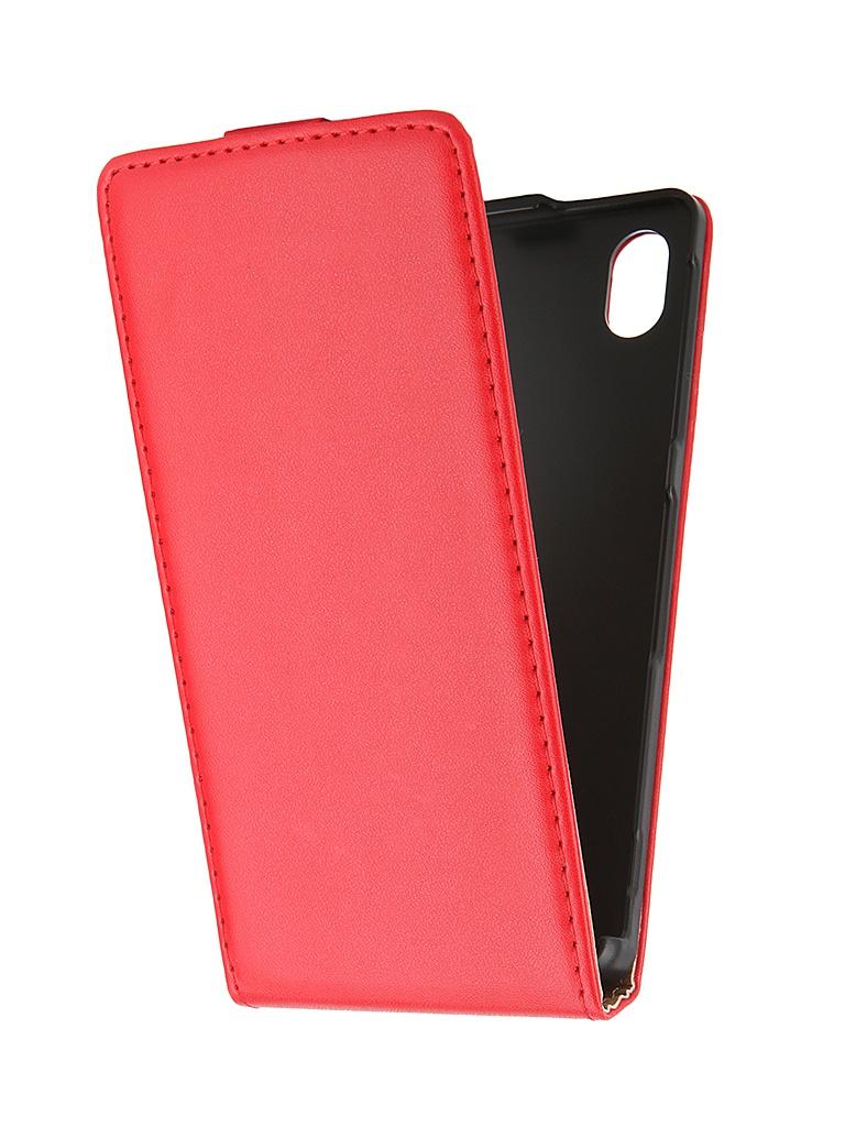 Купить все для Sony Xperia M4 Aqua   Аксессуар Чехол-флип Sony Xperia M4 Aqua BROSCO Red M4A-FLIP-01-RED