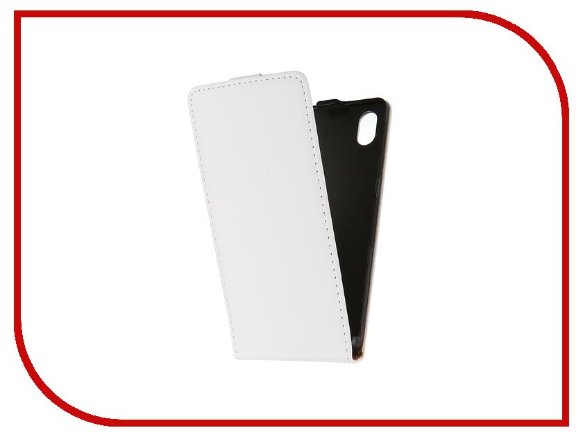 Аксессуар Чехол-флип Sony Xperia M4 Aqua BROSCO White M4A-FLIP-01-WHITE<br>