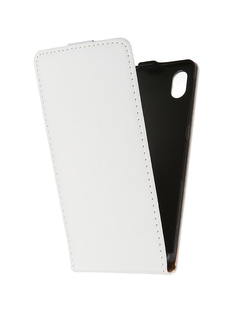 Аксессуар Чехол-флип Sony Xperia M4 Aqua BROSCO White M4A-FLIP-01-WHITE