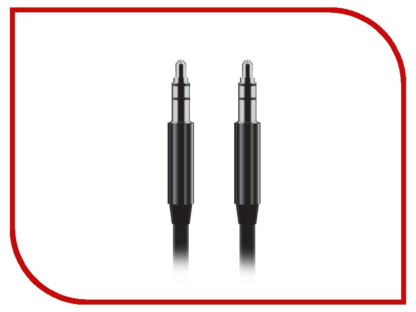 Аксессуар BROSCO AUX Jack 3.5mm Black CABLE-AUX-01-BLACK<br>