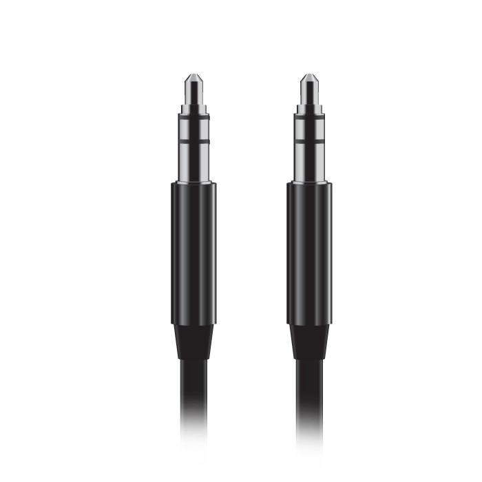 Аксессуар BROSCO AUX Jack 3.5mm Black CABLE-AUX-01-BLACK