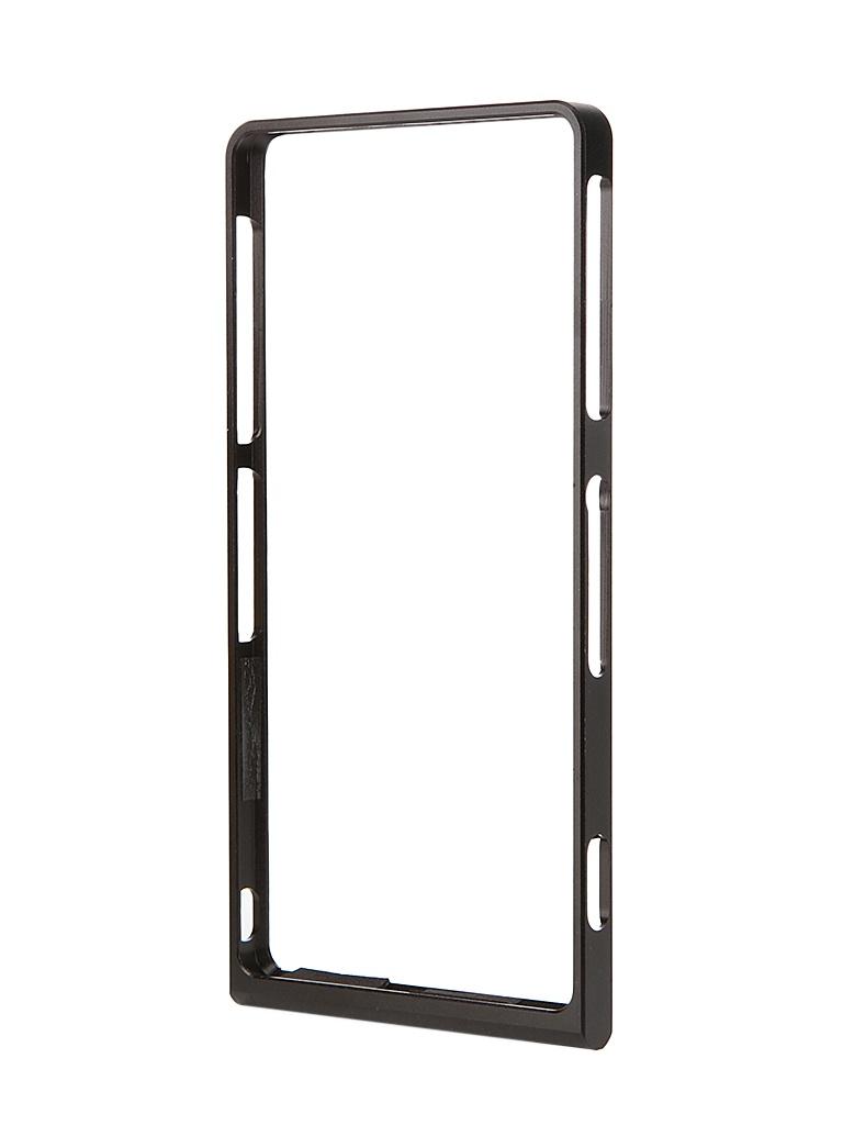 ��������� �����-������ Sony Xperia Z3 BROSCO Black Z3-BUMPER-02-BLACK