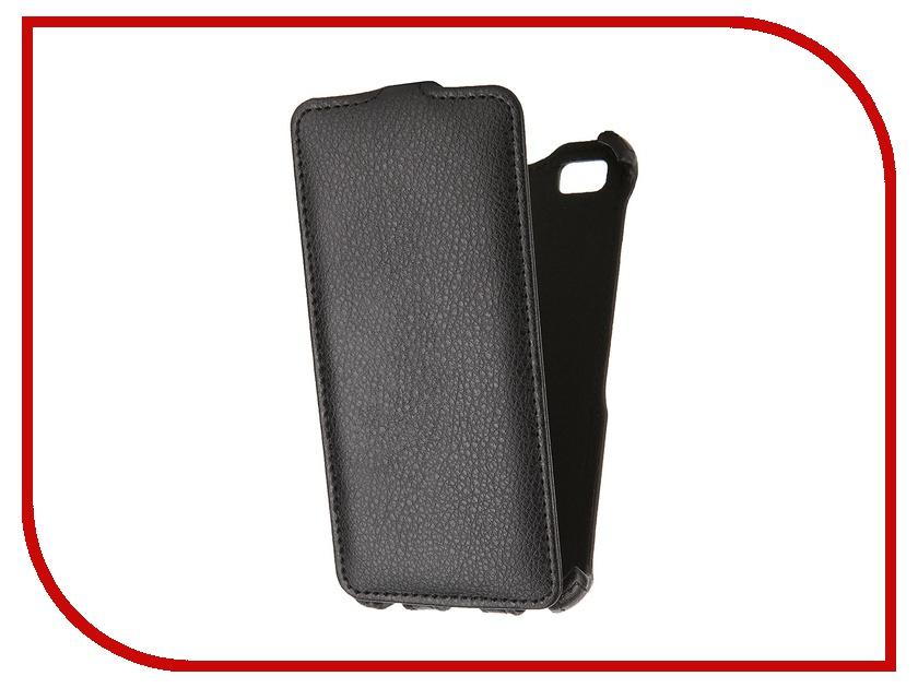 Аксессуар Чехол-флип Huawei Ascend P8 Lite SkinBox Black T-FC-HP8L<br>