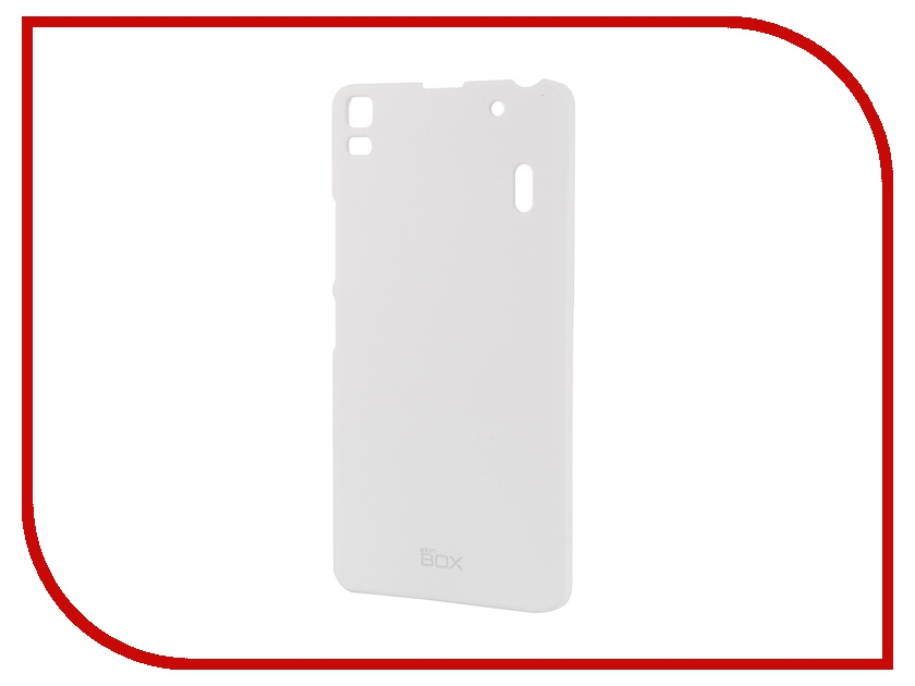 Аксессуар Чехол-накладка Lenovo A7000 SkinBox 4People White T-S-LA7000-002 аксессуар чехол накладка samsung galaxy a3 2017 skinbox silicone chrome border 4people silver t s sga32017 008