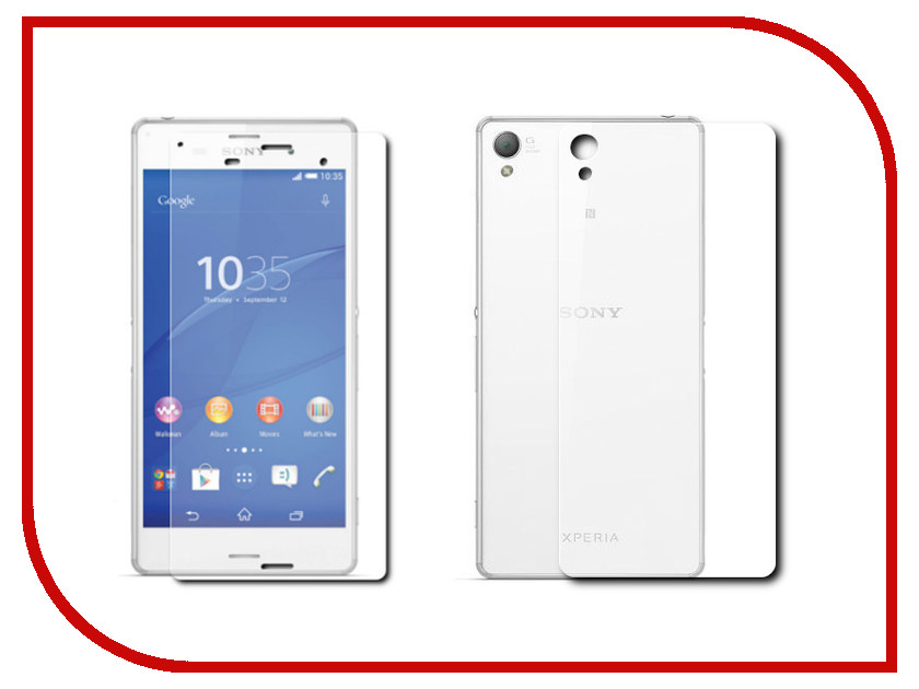 Аксессуар Защитное стекло Sony Xperia Z3 Compact BROSCO 0.3mm Front&amp;Back Z3C-FRONT&amp;BACK-GLASS<br>