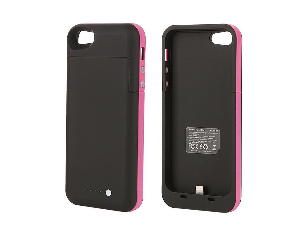 Аккумулятор Чехол-аккумулятор Fotololo 2000 mAh для iPhone 5 Pink F-064