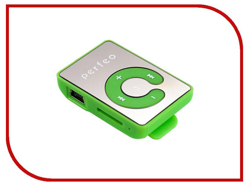 Плеер Perfeo Music Clip Color VI-M003 Green music clip staff page clip with music pattern