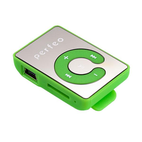 Плеер Perfeo Music Clip Color VI-M003 Green плеер perfeo vi m001 music clip titanium orange