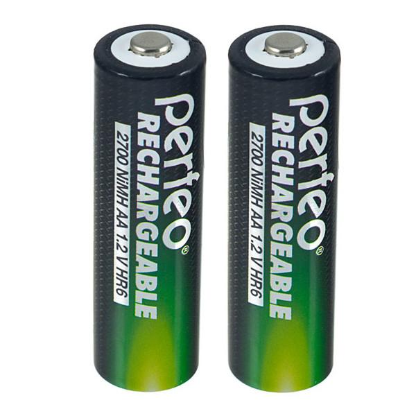 Аккумулятор AA - Perfeo 2700 mAh PF AA2700/2BL (2 штуки) цена и фото
