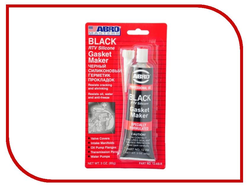 Герметик силиконовый ABRO AB-12 Black 85гр герметик силиконовый abro ab 12 black 85гр