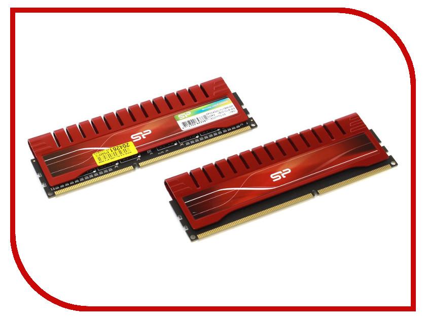 Модуль памяти Silicon Power DDR3 DIMM 1600MHz PC3-12800 - 8Gb (2X4Gb) SP008GXLYU16ANDA<br>