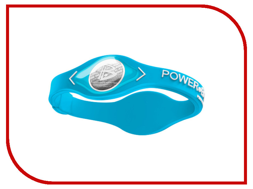 Браслет POWER BALANCE M NEON Light Blue/White<br>