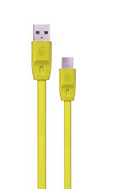 Аксессуар Remax MicroUSB Full Speed Data Cable Yellow RM-000139
