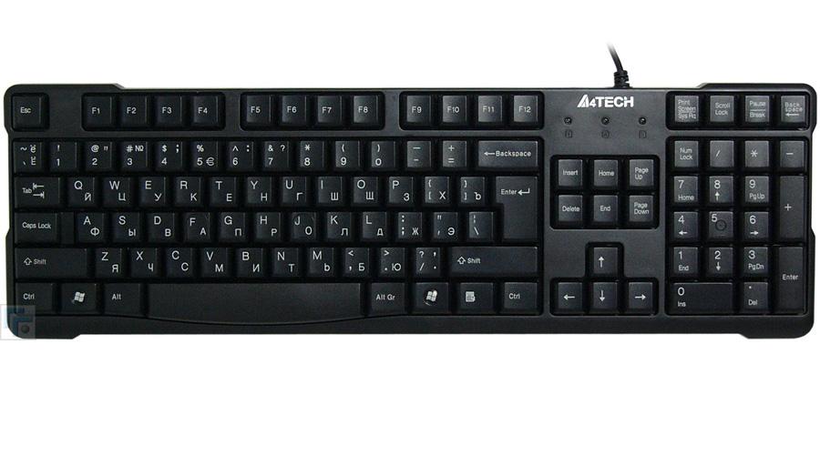 Клавиатура A4Tech KR-750 Black USB набор a4tech kr 8520d usb black