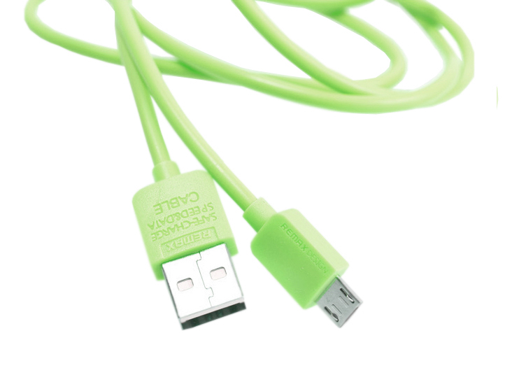 Аксессуар Remax Light Speed Cable USB - Micro USB Green 100cm RM-000100