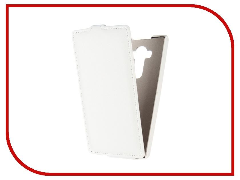 Аксессуар Чехол Ainy for LG G4 кожаный White