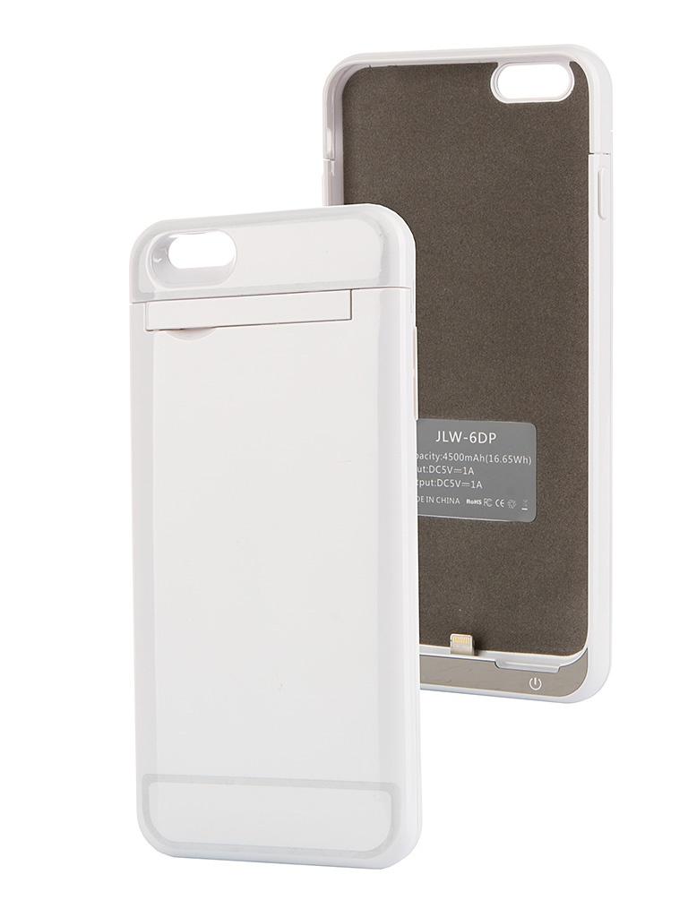 Аксессуар Чехол-аккумулятор Ainy 4500 mAh для iPhone 6 Plus White