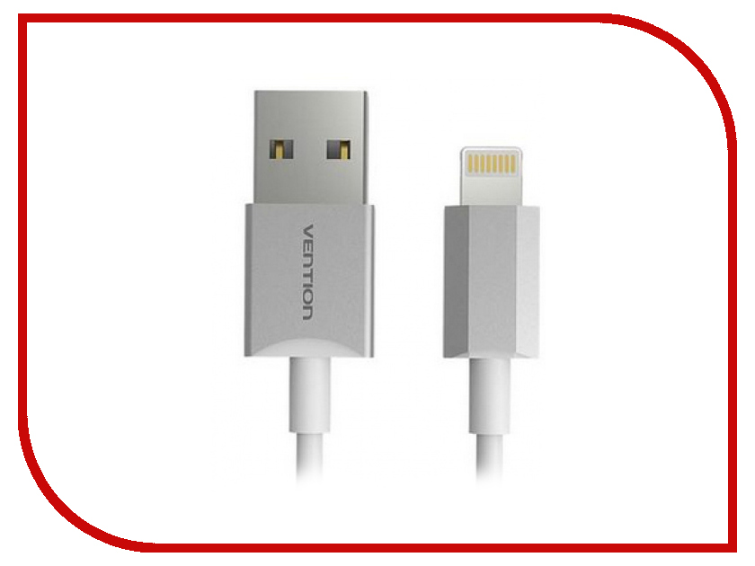 Аксессуар Vention USB 2.0 AM - Linghtning 8M для iPhone 5 / 6 Silver VAI-C02-W100<br>