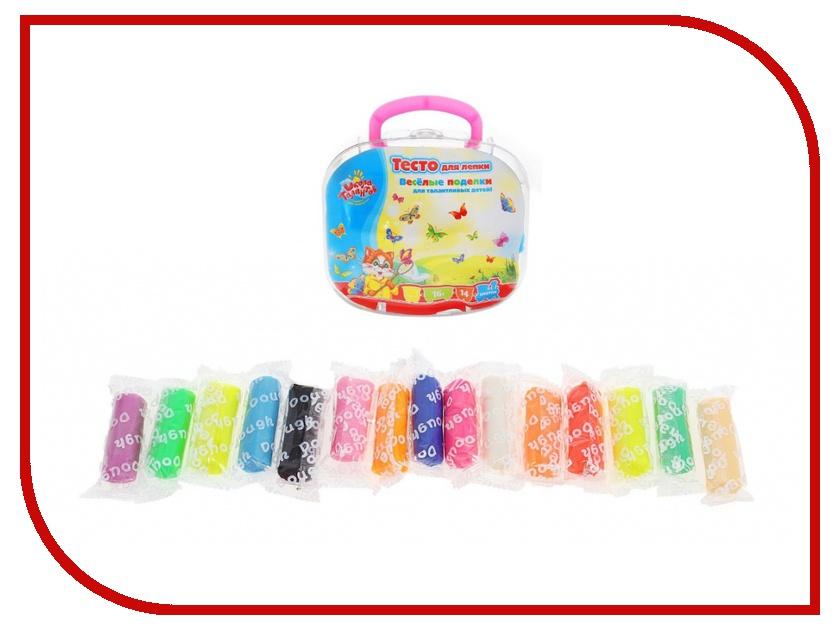 Набор для лепки Школа талантов Тесто для лепки 14 цветов 895798 масса для лепки candy clay набор круассан