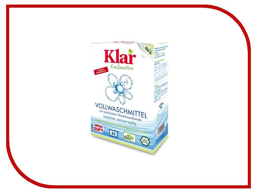 Средство KLAR стиральный порошок на мыльном орехе для белого и прочноокрашенного белья гипоаллергенный ЭКО 2.475kg 6601002<br>