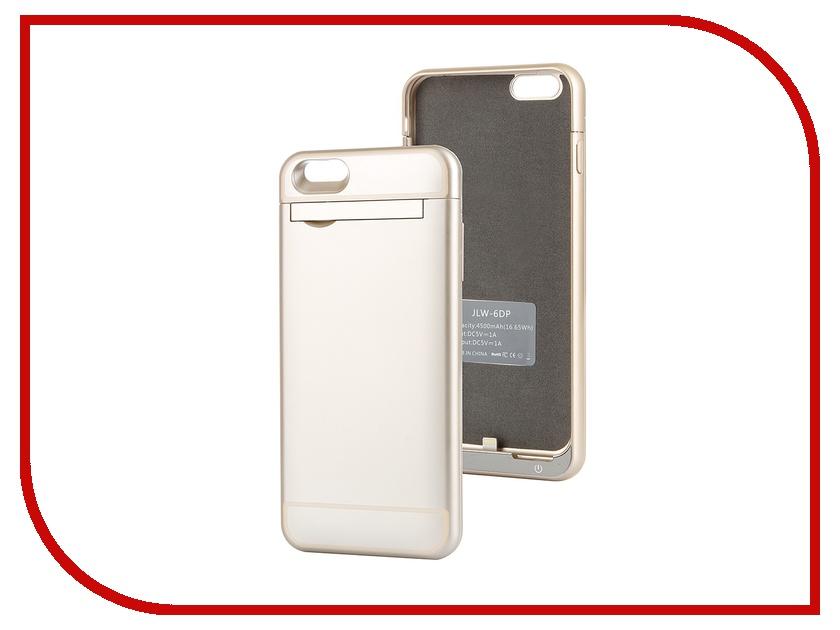 Аксессуар Чехол-аккумулятор Ainy 4500 mAh для iPhone 6 Plus Gold<br>