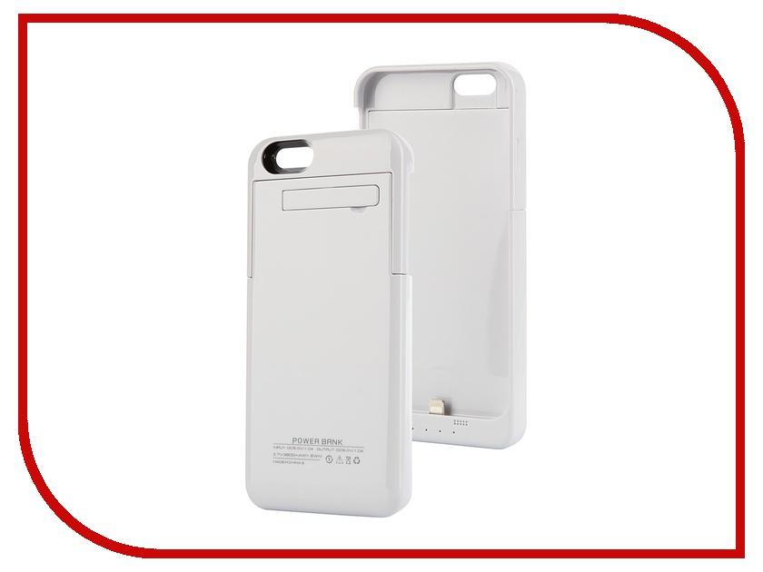 Аксессуар Чехол-аккумулятор Ainy 3200 mAh для iPhone 6 White<br>