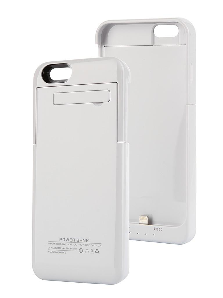 Аксессуар Чехол-аккумулятор Ainy 3200 mAh для iPhone 6 White