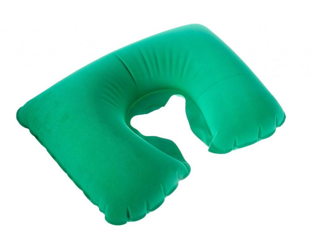 Подушка Командор дорожная надувная 38x24cm Green 135632