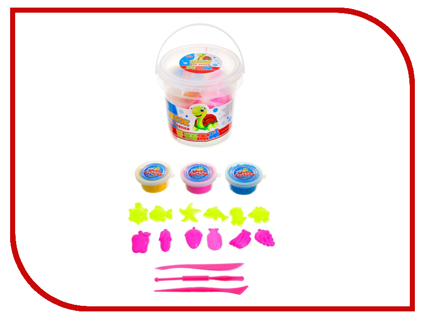 Набор для лепки Школа талантов Песок для лепки 3 цвета 80g Yellow Blue Pink 156630 масса для лепки candy clay набор круассан