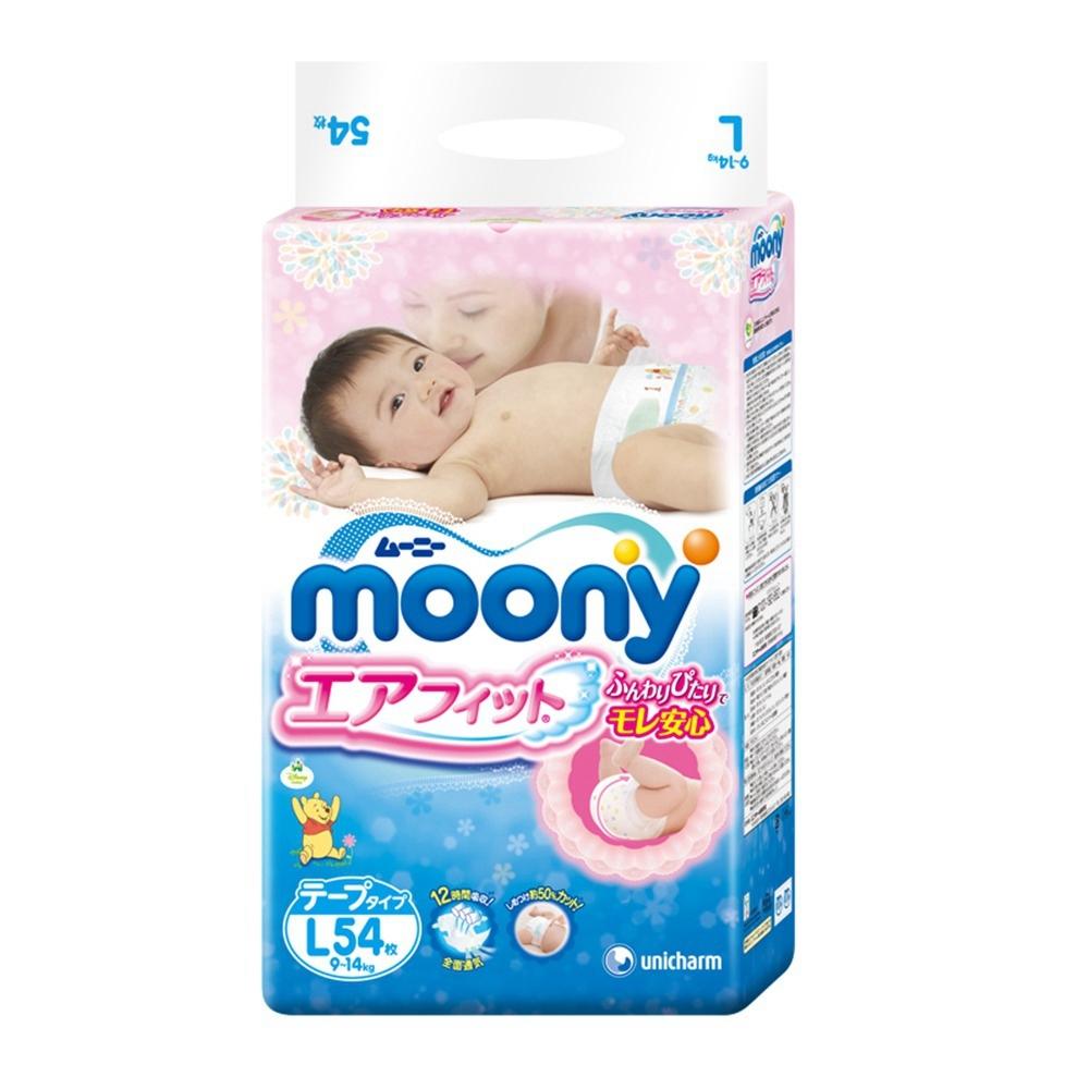 Подгузники Moony L 9-14кг 54шт 4903111244003