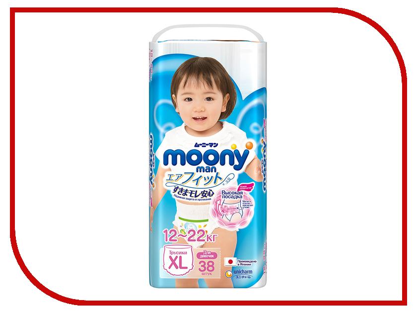 Подгузники Moony Unicharm Big 12-17кг 38шт для девочек 4903111183760 [импортные] японская unicharm unicharm су фэй поглощают небольшое количество сухого ультратонкой прокладки 18