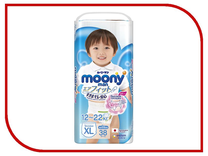 Подгузники Moony Unicharm Big 12-17кг 38шт для мальчиков 4903111183685 / 4903111184675<br>