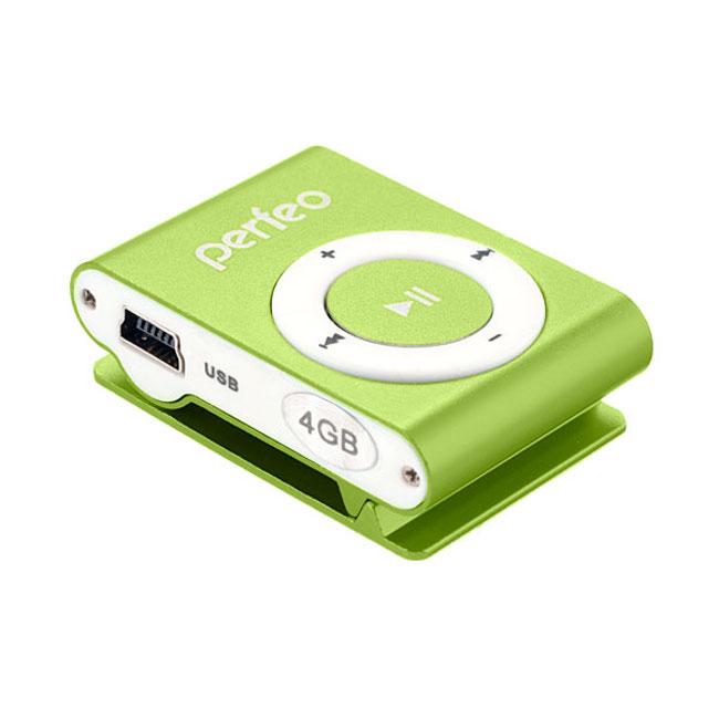Плеер Perfeo VI-M001 Music Clip Titanium 4Gb Green