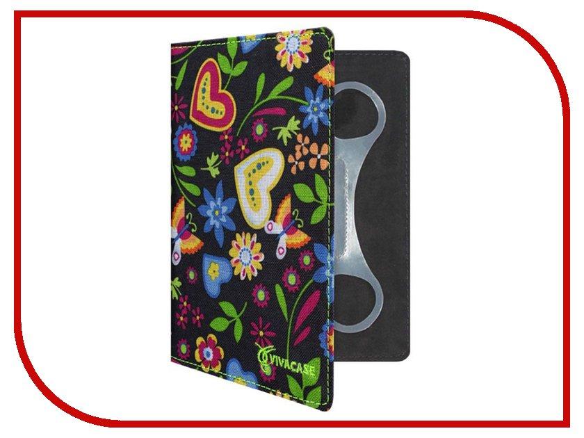 Аксессуар Чехол 7.0-inch Vivacase Flowers универсальный VUC-CFL07-bl<br>